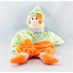 Doudou poupon lutin vert orange mauve UN REVE DE BEVE