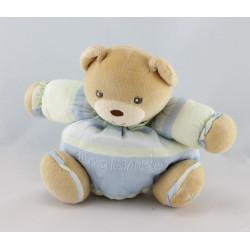 Doudou ours rose vert 10 ans de Bonheur KALOO