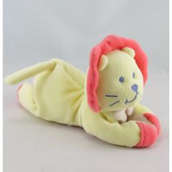 Doudou hochet lion jaune couché BEBE CONFORT