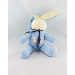 Doudou lapin bleu Calidoux Nature HISTOIRE D'OURS 27 cm