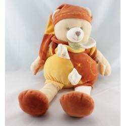 Doudou et compagnie ours orange jaune cannelle