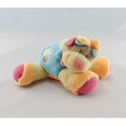 Doudou lion beige bleu rouge orange palmier NATTOU