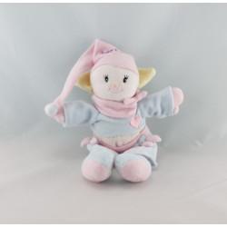 Doudou poupée fille chinoise rouge vert BABY NAT