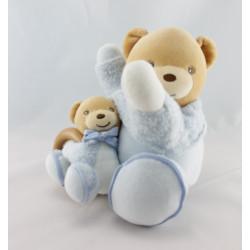 Doudou plat ours bleu blue laine KALOO NEUF
