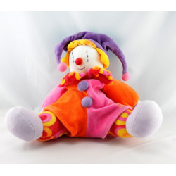 Doudou musical Gino le clown rose violet orange MOULIN ROTY