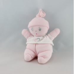 Doudou lutin bébé robe rose rayé COROLLE