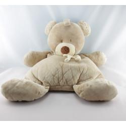 Doudou ours beige avec écharpe NICOTOY