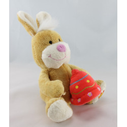 Doudou lapin beige cloche rose GIPSY