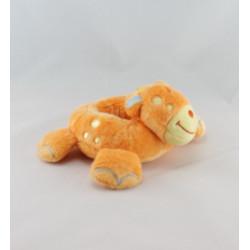 Doudou plat girafe orange satin jaune BRUIN TOY'S RUS