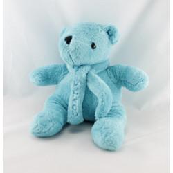 Doudou plat ours bleu écru MILETTE