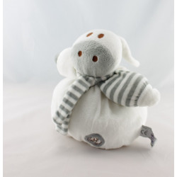 Doudou plat ane lapin blanc gris Dodo d'amour MGM