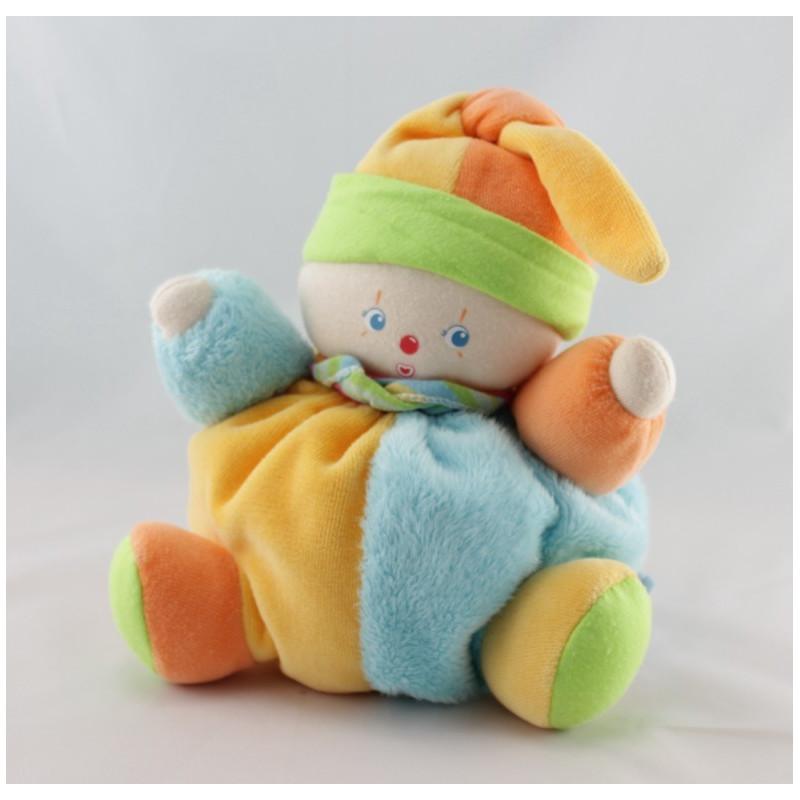 Doudou clown lutin patapouf multicolore COROLLE