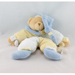 Doudou pantin ours bleu jaune BABY NAT