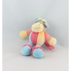 Doudou musical vache orange bleu vert rose pois NATTOU