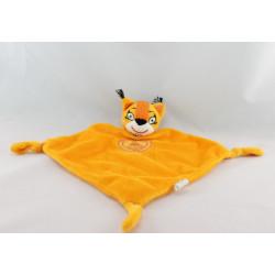 Doudou plat chat orange MERCEDES BENZ