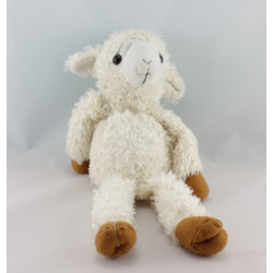 Doudou mouton blanc marron ENESCO