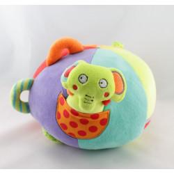 Doudou balle chat grenouille canard vache avec bruitage Babysun