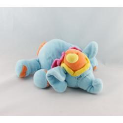 Doudou hochet éléphant bleu JOLLYBABY lot de 2