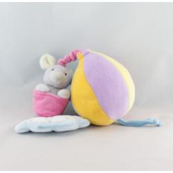 Doudou musical ballon mongolfiére lapin nuage GIPSY