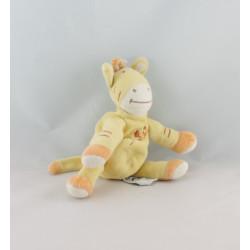 Doudou girafe zébre jaune orange oiseau AMTOYS 23 cm