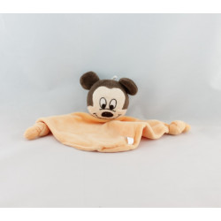 Doudou plat Mickey orange DISNEY