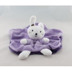 Doudou musical lapin violet rose jaune BABY NAT