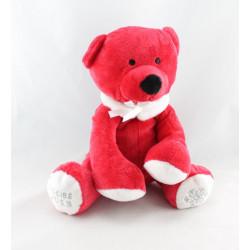 Doudou ours rouge fraises NOCIBE CACHAREL