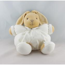 Doudou lapin patapouf blanc feuille Tendres et Douces KALOO
