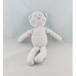 Doudou chat blanc rose BOUT'CHOU BOUTCHOU