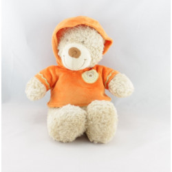 Doudou ours sweat capuche orange NICOTOY