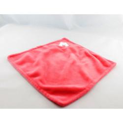 Doudou plat carré rose coeur