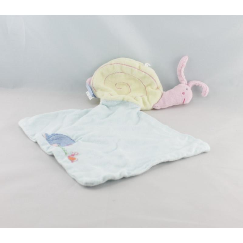 Doudou plat escargot mouchoir Bourriquet DISNEY BABY