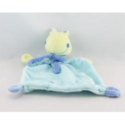 Doudou grenouille verte bleu fleur Babysun