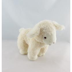 Doudou mouton blanc marron indien LASCAR