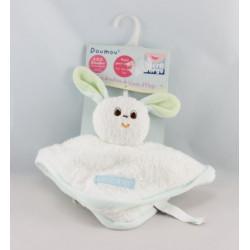 Doudou plat chat blanc rouge Doumou de bain SUCRE D'ORGE