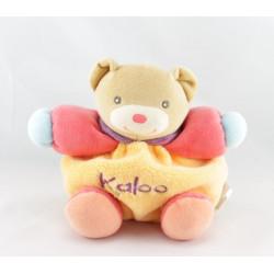 Doudou ours boule bleu orange KALOO