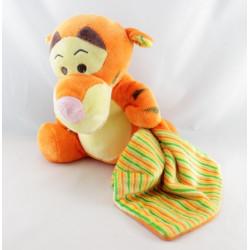 Doudou Tigrou avec mouchoir satin Disney Nicotoy 35 cm