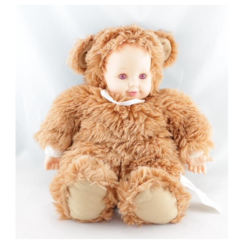Poupée ours roux marron ANNE GEDDES 40 cm