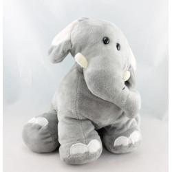 Doudou éléphant gris CALIN ET BISOU