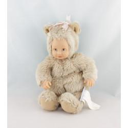 Poupée ours beige ANNE GEDDES 20 cm
