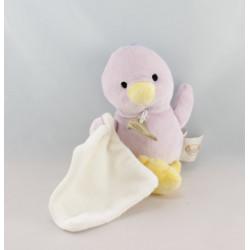 Doudou poussin mauve dans sa coquille avec mouchoir BABY NAT