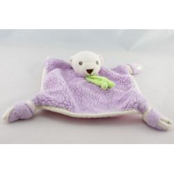 Doudou plat ours rose Au dodo le ninnin NOUNOURS