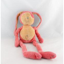 Doudou lapin rouge orange MARESE