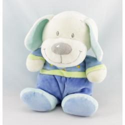 Doudou chien bleu coeur NICOTOY VETIR