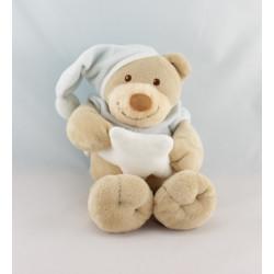 Doudou ours bleu ciel étoile NATTOU 30 cm