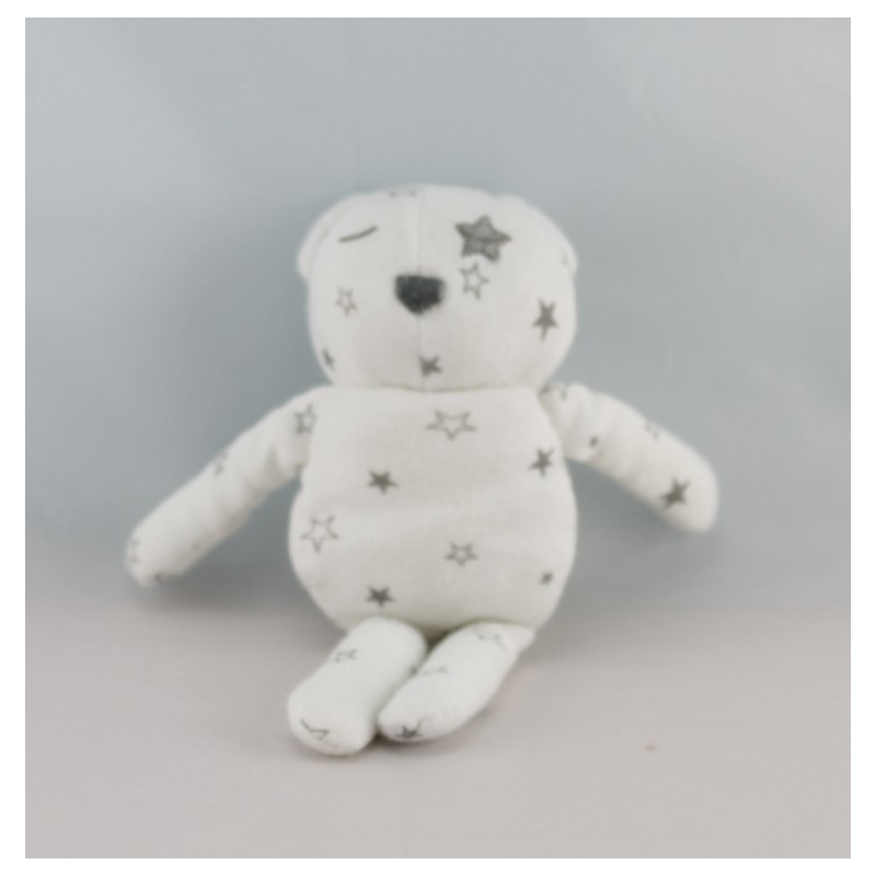 Doudou ours tissu bleu avec étoiles VERTBAUDET