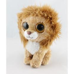 Doudou lion beige marron