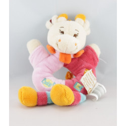 Doudou plat girafe rose rouge bleu orange Maé BABY NAT