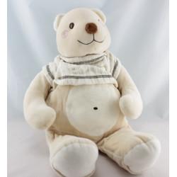 Doudou ours beige blanc SUCRE D'ORGE