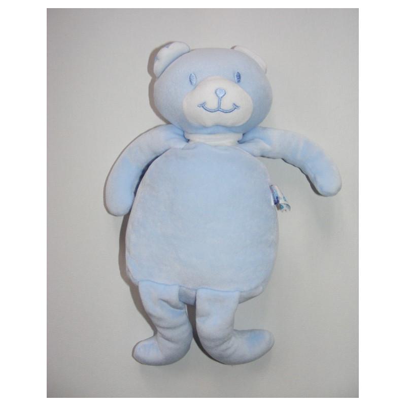 Doudou Ours bleu  Sucre d'orge